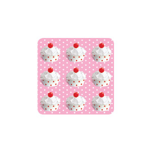 AG Pink Polka Dot Cupcake