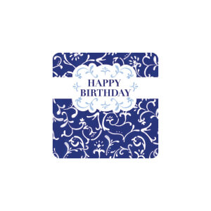 BLUESKY Birthday Navy Swirls