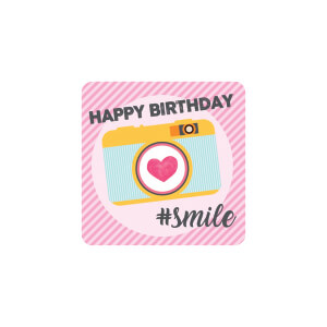 BLUESKY Birthday Pink Camera Smile