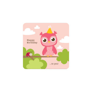BLUESKY Birthday Pink Owl