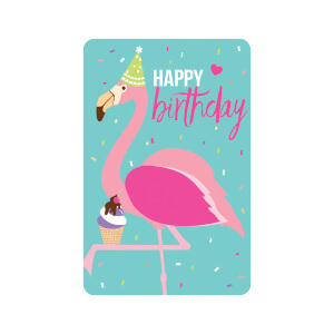 BLUESKY TALL Birthday Flamingo