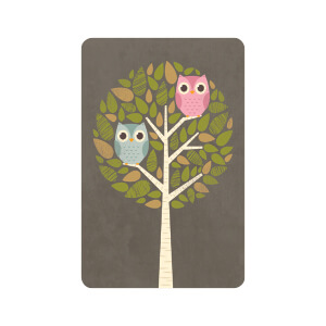 BLUESKY TALL Birthday Owls