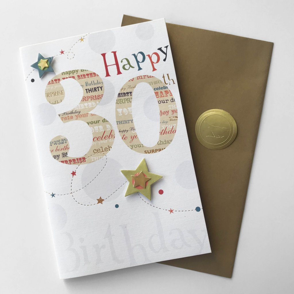 CARD COUTURE Birthday 30th Star