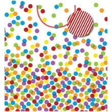GIFT WRAPPING PAPER JUMBO Bright Confetti
