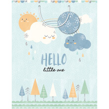 GIFT WRAPPING PAPER LARGE Baby Boy Clouds