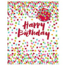 GIFT WRAPPING PAPER LARGE Confetti Birthday