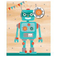GIFT WRAPPING PAPER LARGE Robot