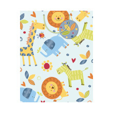 GIFT WRAPPING PAPER MED Baby Boy Animals