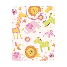 GIFT WRAPPING PAPER MED Baby Girl Animals