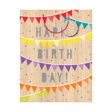 GIFT WRAPPING PAPER MED Birthday Bunting