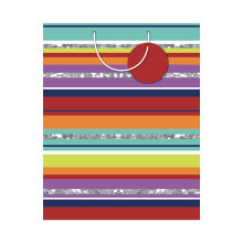GIFT WRAPPING PAPER MED Bright Stripe