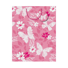 GIFT WRAPPING PAPER MED Floral Butterfly