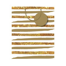 GIFT WRAPPING PAPER MED Gold Stripes