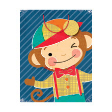 GIFT WRAPPING PAPER MED Monkey