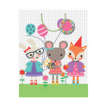 GIFT WRAPPING PAPER MED Party Animals