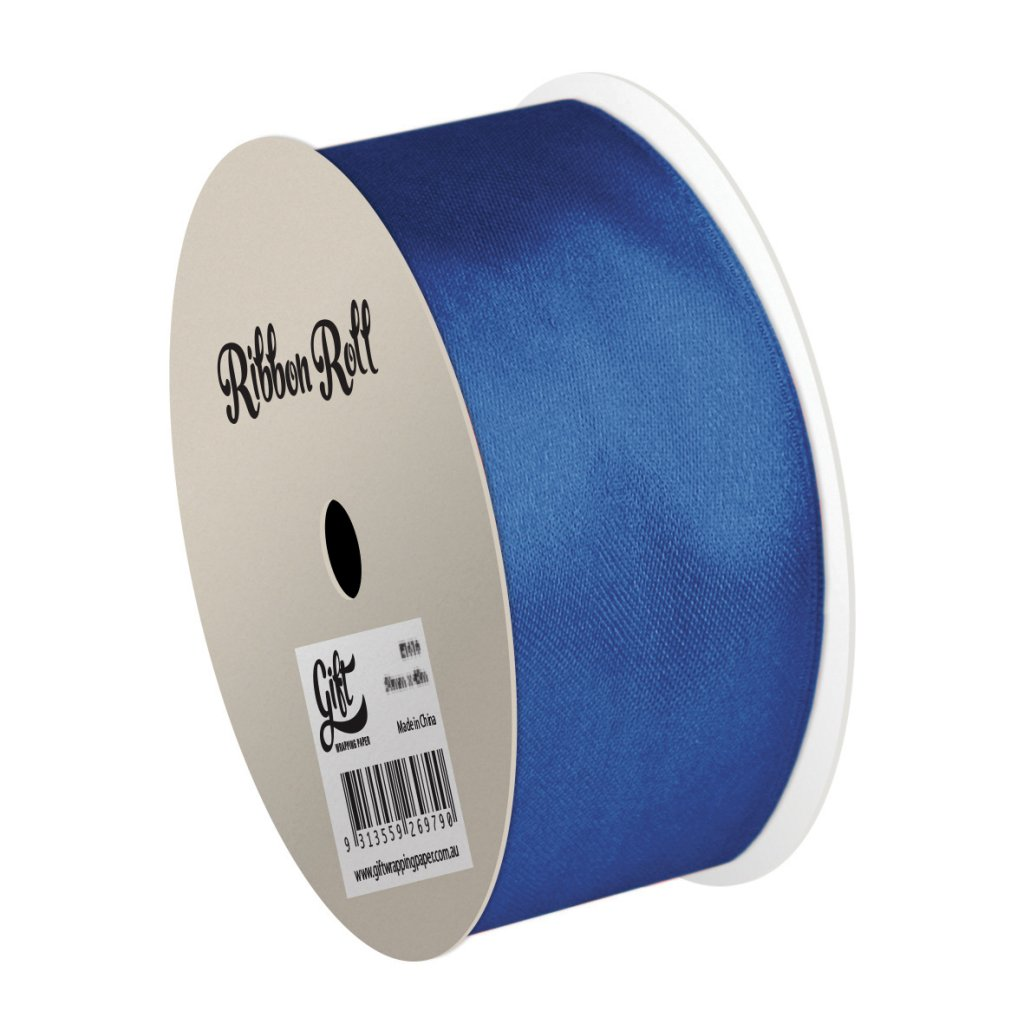GIFT WRAPPING PAPER RIBBON Blue Satin Ribbon