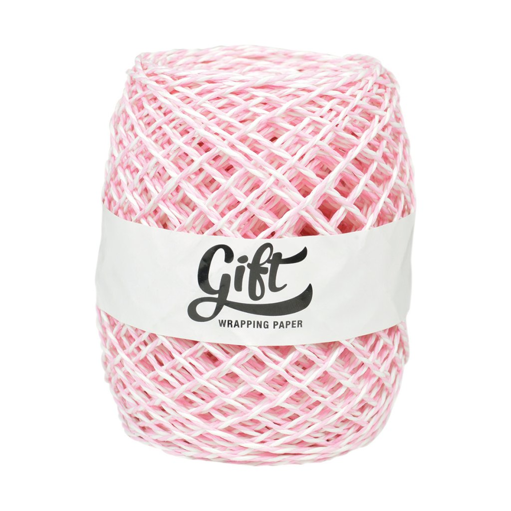 GIFT WRAPPING PAPER RIBBON LIGHT PINK PAPER TWINE