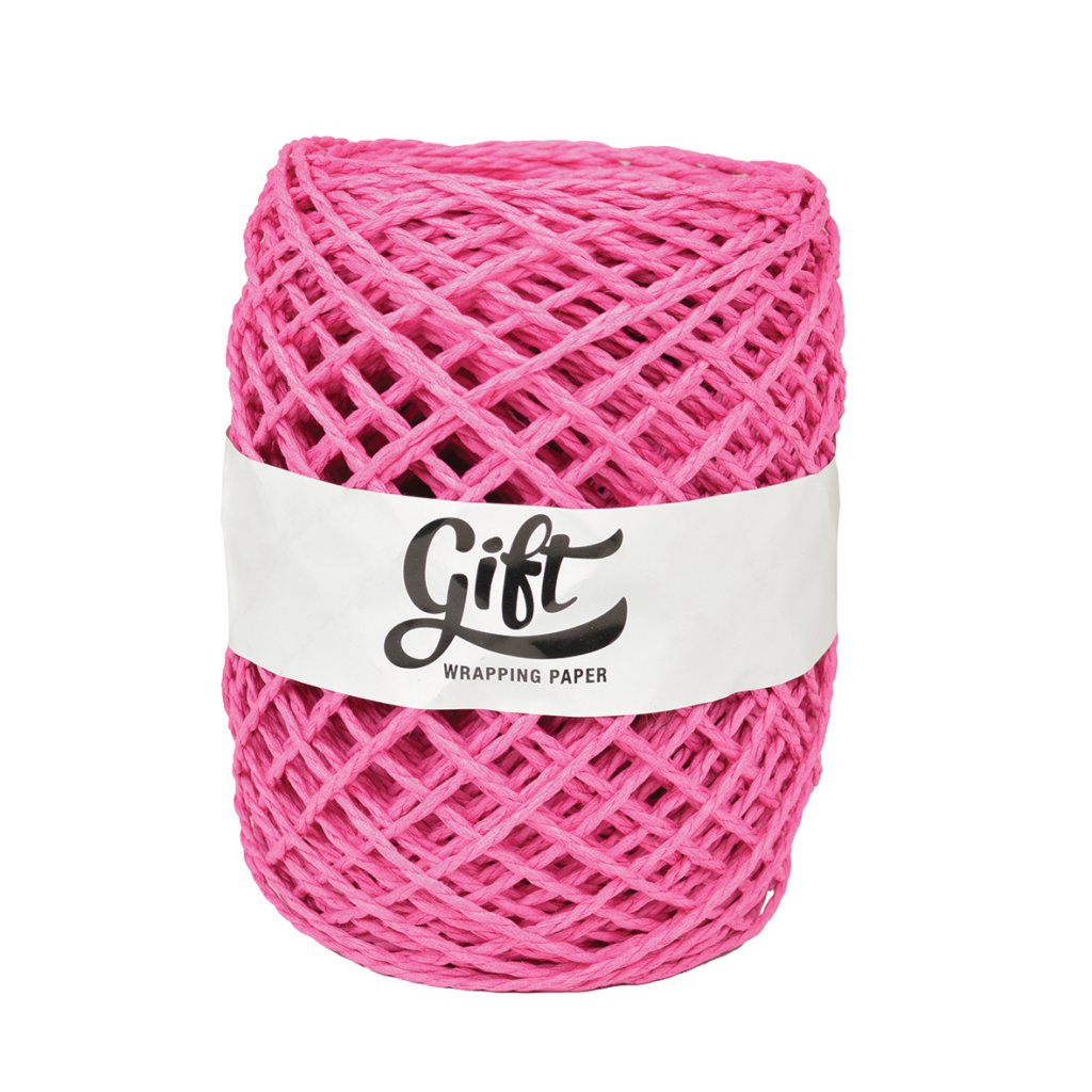 GIFT WRAPPING PAPER RIBBON PAPER TWINE HOT PINK PAPER TWINE