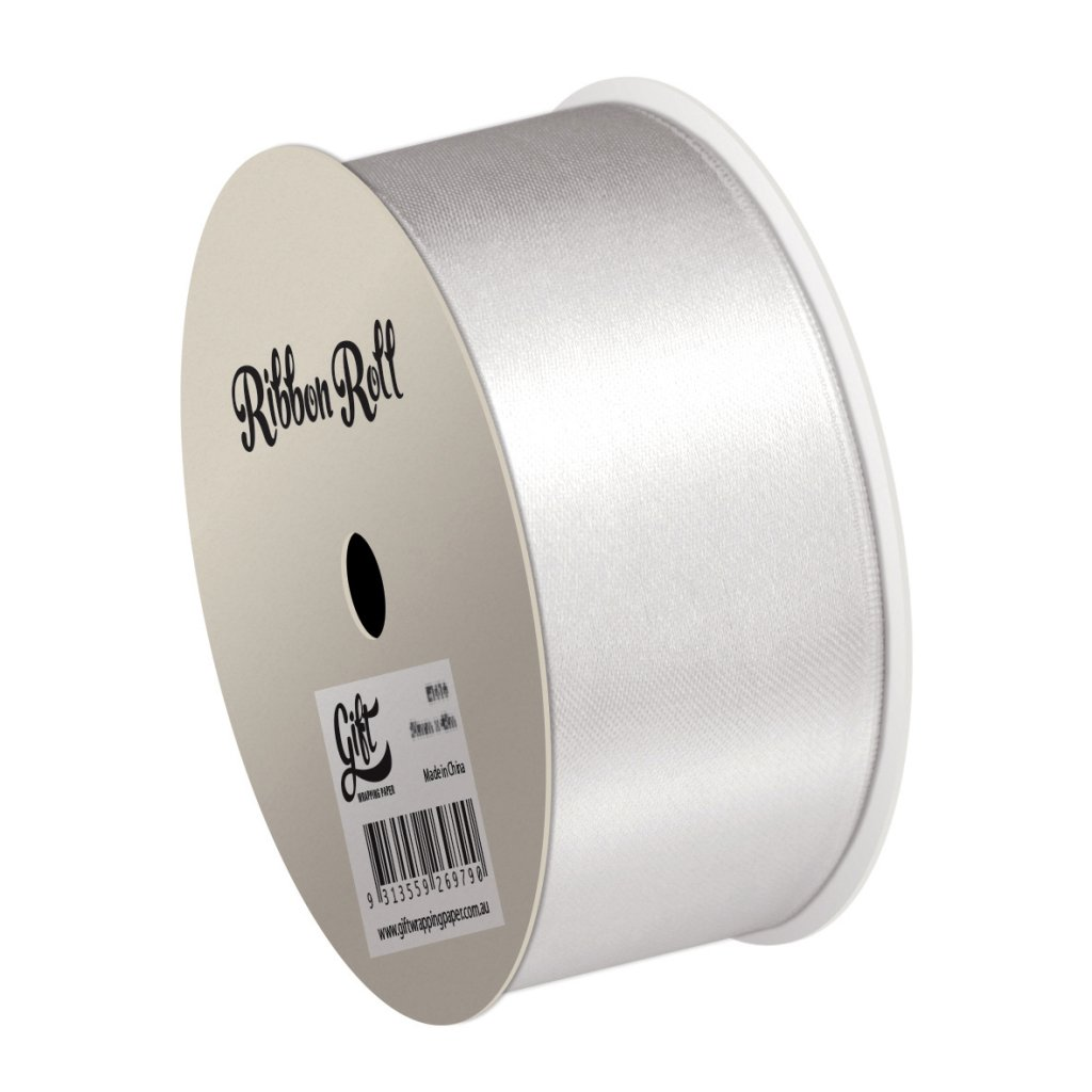 GIFT WRAPPING PAPER RIBBON WHITE SATIN RIBBON