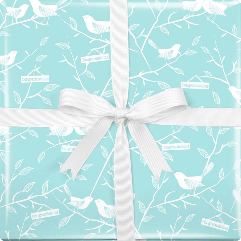 GIFT WRAPPING PAPER WRAP Bird VIS
