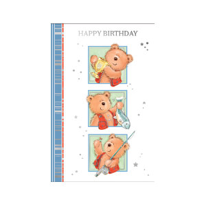 JORDAN Female Happy Bday Fishing Bears