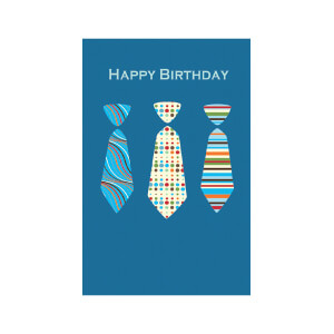 JORDAN Male Happy Bday Ties
