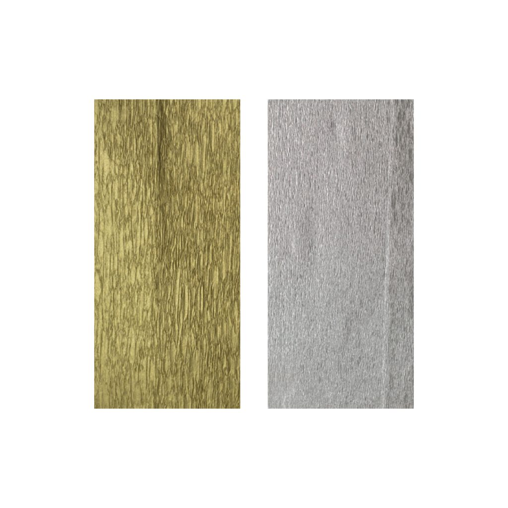 KRYSTAL CREPE PAPER PACKS Metallic