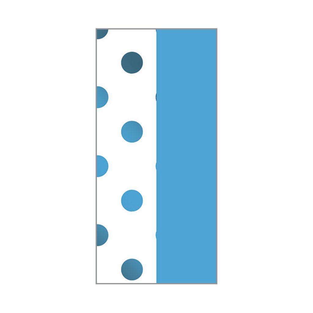 KRYSTAL FOIL STAMPED TISSUE BLUE