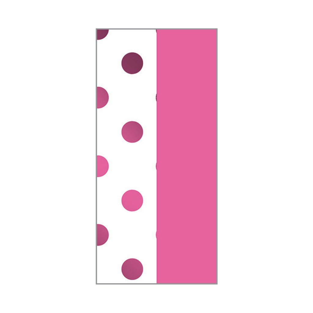 KRYSTAL FOIL STAMPED TISSUE Pink