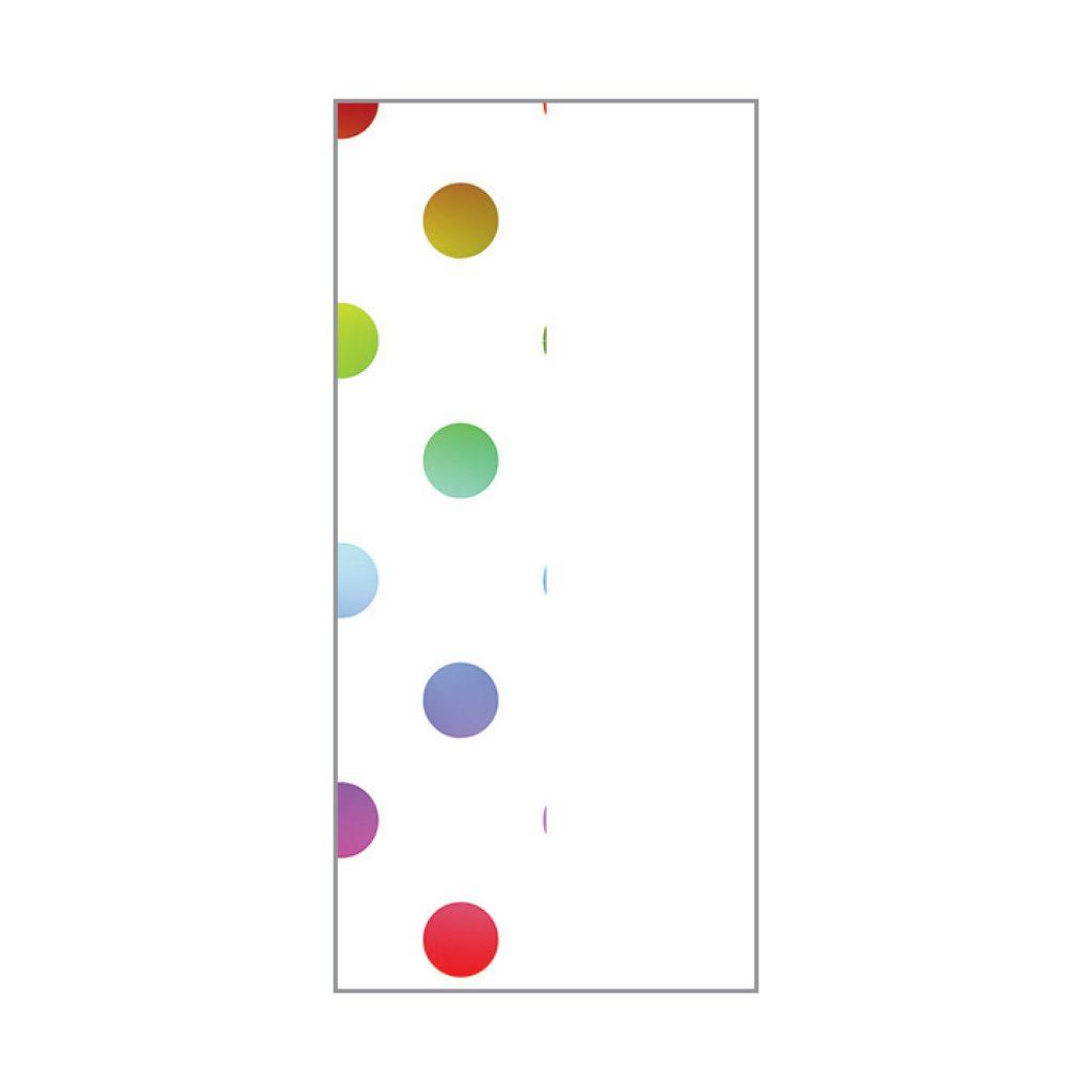 KRYSTAL FOIL STAMPED TISSUE White & Rainbow