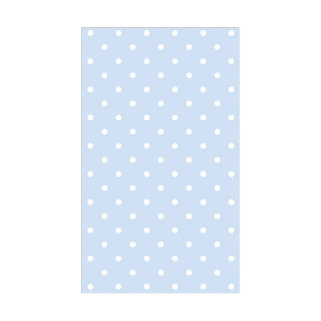 KRYSTAL PRINTED TISSUE POLKA DOT PALE BLUE