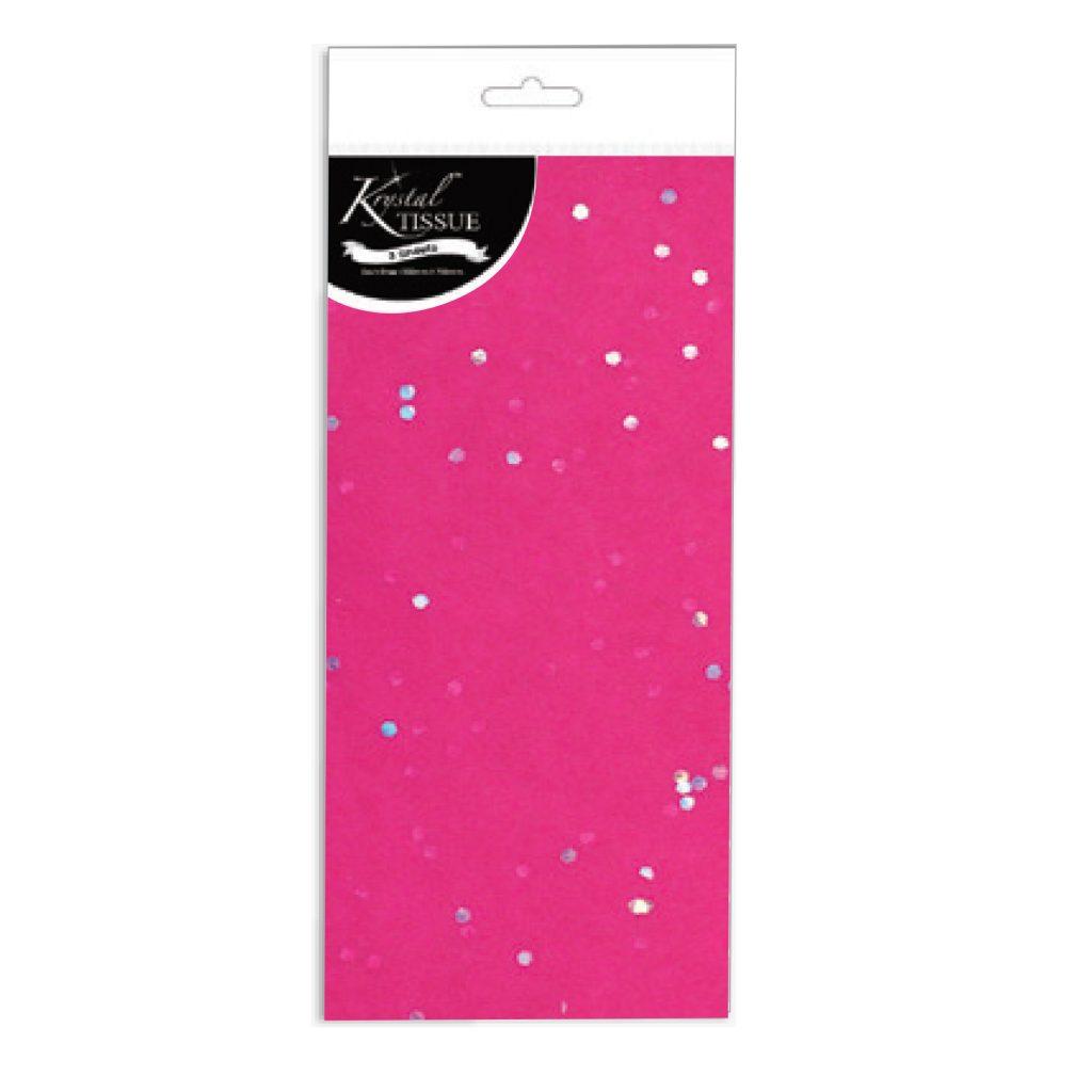 Krystal Gemstone Tissue Pink