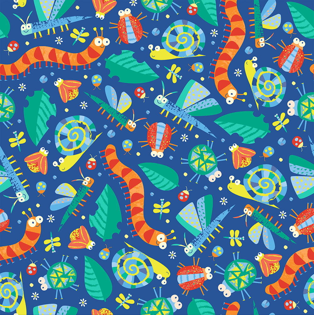 Lucy Design -A INSECTS BUGS JUV BOY WRAP