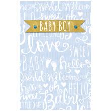 PREMIUM BABY BOY pastel blue words