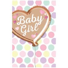 PREMIUM BABY GIRL Foil heart
