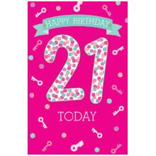 PREMIUM BIRTHDAY Female 21 pink
