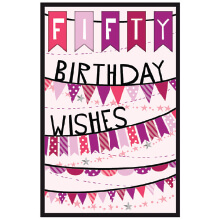 PREMIUM BIRTHDAY Female 50 Birthday Wishesj