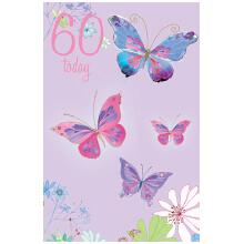 PREMIUM BIRTHDAY Female 60 Butterflies