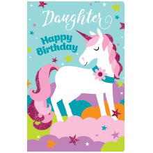 PREMIUM BIRTHDAY Female Daughter Unicorn