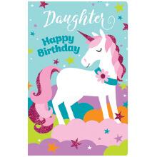 PREMIUM BIRTHDAY Female Daughter Unicorn