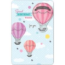 PREMIUM BIRTHDAY Female Hot Air Balloon