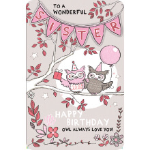 PREMIUM BIRTHDAY Female Sister Owls