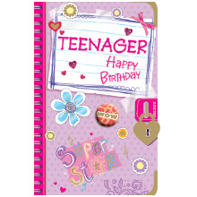 PREMIUM BIRTHDAY Female Teen Notebook