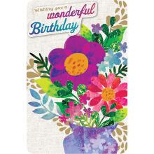 PREMIUM BIRTHDAY Female Wonderful Birthday Bouqet