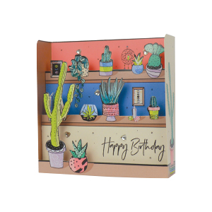 Paper Pop Female Birthday Cactus