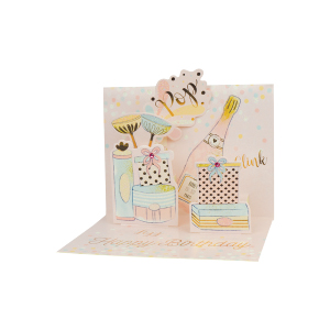 Paper Pop Female Birthday Champagne
