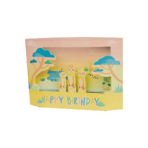 Paper Pop General Birthday Meerkats