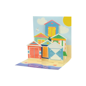 Paper Pop Male Birthday Beach Huts