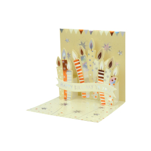 Paper Pop Male Birthday Candles