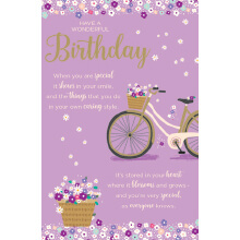 WHOLEHEARTEDLY Birthday Purple Bike